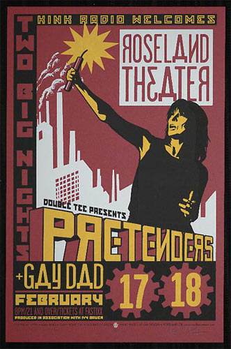 The Pretenders - Roseland Theatre Poster