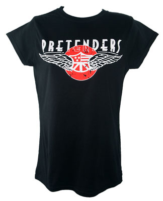 Ladies Fitted Pretenders Tour T Shirt With 2018 Grandslam Tour Date Back Print