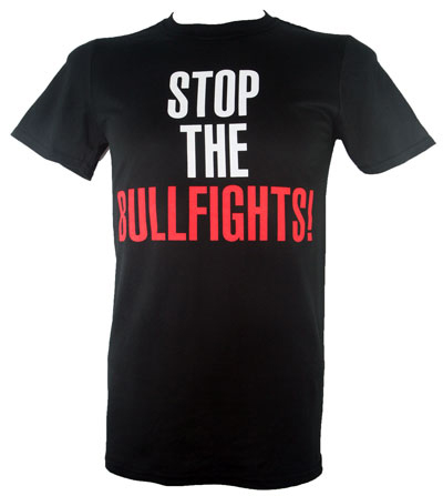 Classic Fit 'Stop The Bullfights' T Shirt