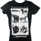 Ladies Fitted Vegetarian T Shirt