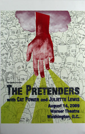 The Pretenders - Warner Theatre, Washington DC Poster