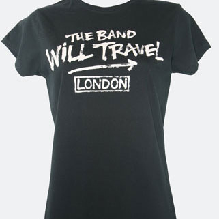 Ladies Fitted 'Band Will Travel' T Shirt