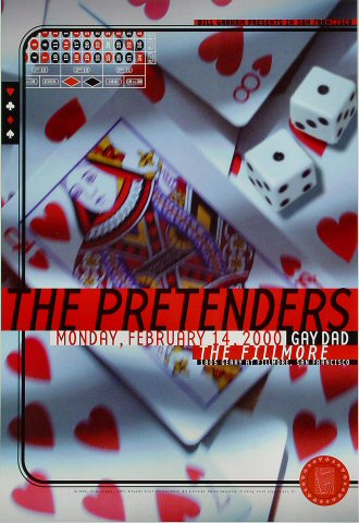 The Pretenders - The Fillmore Poster
