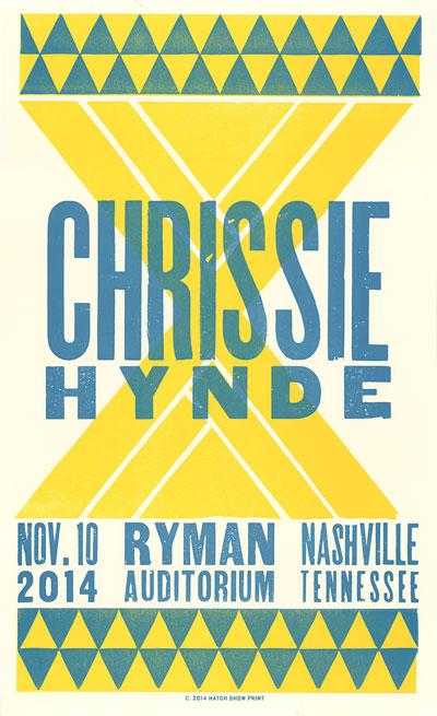 Chrissie Hynde - Ryman Auditorium Print