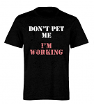 Ladies Fitted Don't Pet Me T Shirt